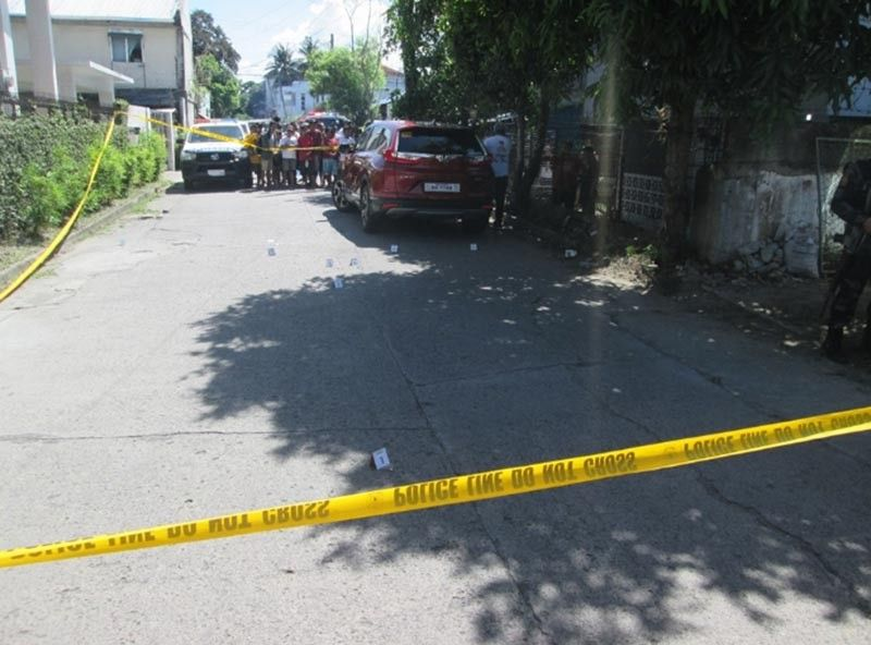 BACOLOD. The crime scene where businessman Jose Lindy Chan was assassinated by motorcycle-riding assailants Wednesday, June 12. (Contributed photo)