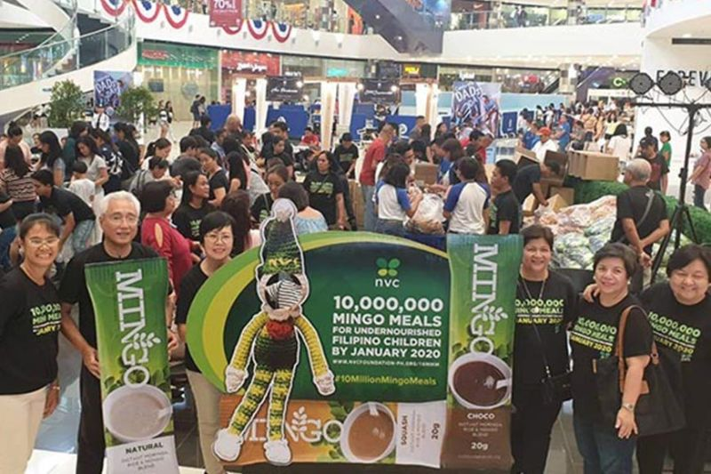 NVC officials spearhead the campaign to hit P10 million children to be fed with Mingo meals by January 2020. (Contributed photo)