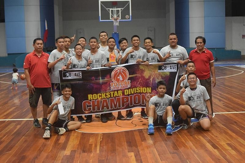 ROCKSTAR. Team RTS of Holy Child College of Davao clinches the Rockstar Division title of the Future Star League at the RMC Petro Gazz Arena in Davao City Wednesday afternoon. (Aldin Celi/Basketball A Venue)