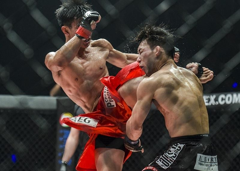 GOODNIGHT. Joshua Pacio's highlight reel knockout of Yosuke Saruta in their title rematch in April this year was named as ONE Championship's top knockout list. (ONE Championship photo)
