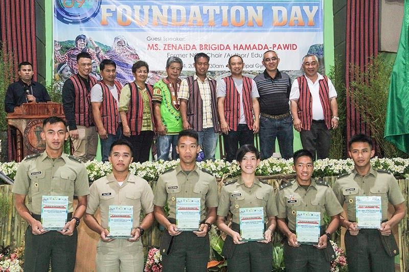 BENGUET. The local government of La Trinidad acknowledged the graduates from the Philippine Military Academy (PMA) during the celebration of the town's 69th Foundation Day Celebration on June 14. (Photo by Jean Nicole Cortes)
