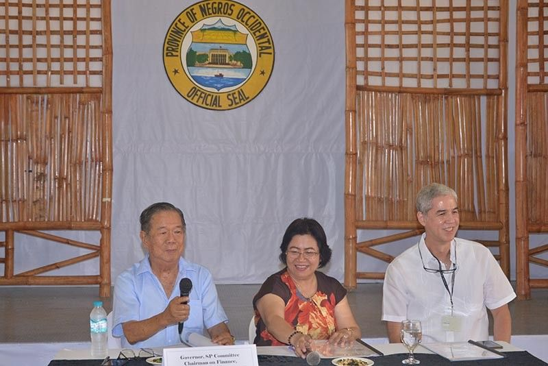BACOLOD. Governor Alfredo Marañon, Jr., PDC Secretary Dr. Ma. Lina Sanogal, Vice Governnor Eugenio Jose Lacson at the 2nd Quarter Provincial Development Council Meeting, Friday, June 14, 2019. (Capitol photo by Richard Malihan)