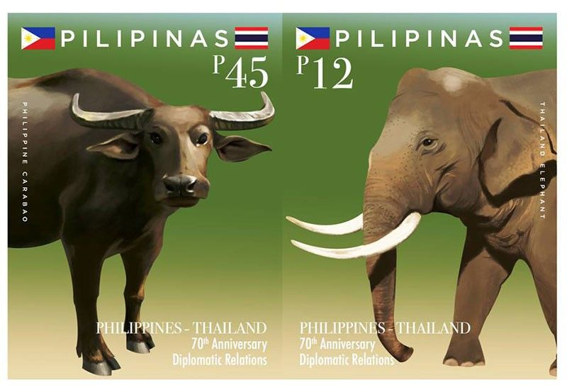 MANILA. Commemorative stamps featuring the Philippine's Carabao and the revered Thailand elephant to celebrate the 70th anniversary of friendship and close diplomatic ties held at Department of Foreign Affairs, Pasay City Friday, June 14, 2019. (Contributed photo)