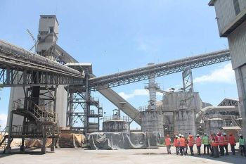 CAGAYAN DE ORO. Members of the media are given a one-day pass by Holcim Philippines inside one of their cement plants in Lugait, Misamis Oriental on June 14. Inside, operators show how the Processed Engineered Fuel (PEF), a composition of waste chunks are used to run the cement factory. In May, containers from Australia arrive in Mindanao International Container Terminal in Tagoloan, Misamis Oriental, which carried wastes declared as PEF and consigned by Holcim. The Bureau of Customs wants it shipped back for