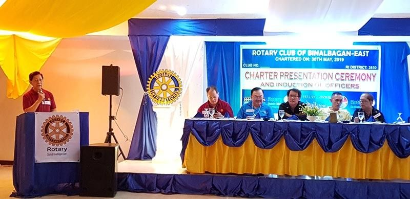 NEGROS. RCBE Past President Franklin G. Fuentevella addressing his fellow Rotarians. (Carla N. Canet)