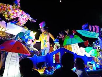 ORMOC. Brightly lit floats carrying beloved children's book characters were on parade in Ormoc City Saturday evening, June 15, 2019, as part of the Piña Festival. (Photos by Marie Tonette Grace Marticio)