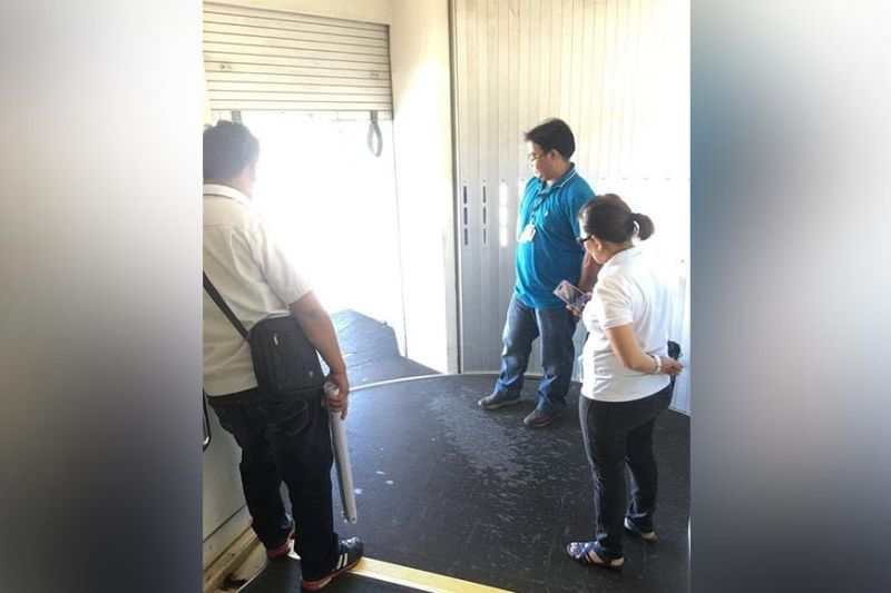 BACOLOD. PVO Animal Health and Meat Inspection Services Division chief Dr. Ryan Janoya (center) with livestock inspector Chasyl Policarpio (right) conducts an ocular inspection at the Bacold-Silay Airport in Silay City to identify appropriate sites for the installation of additional footbaths. (Contributed photo)