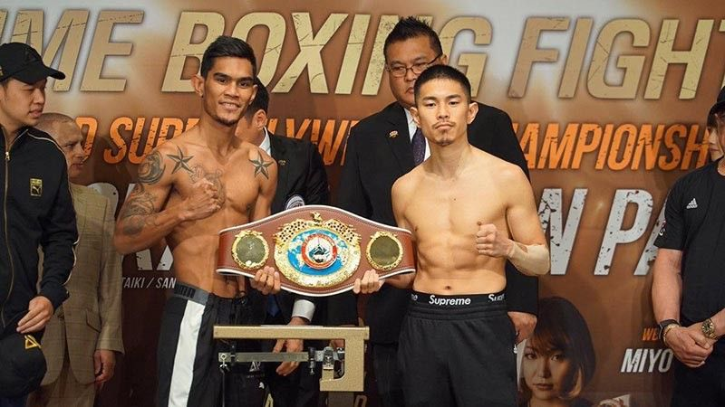 READY TO RUMBLE. Aston Palicte (left) will look for a knockout win against Japanese Kazuto Ioka (right) for the WBO super flyweight world title belt in Chiba, Japan. (Contributed photo)