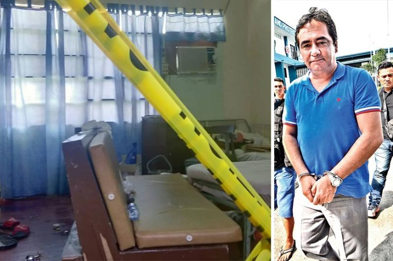 KILLED UNDER GUARD. Gunmen barged into Room 103 of the Bogo-Medellin Medical Center in Barangay Luy-a, Medellin, Cebu on Tuesday night, June 18, 2019, shooting former Medellin, Cebu mayor Ricardo Ramirez dead after disarming his jail guard nearby. Ramirez had been under hospital arrest following his arrest for illegal possession of firearms and drug paraphernalia on July 26, 2017 (right). (Photos of hospital by Fe Marie D. Dumaboc and of Ricardo Ramirez from SunStar file)