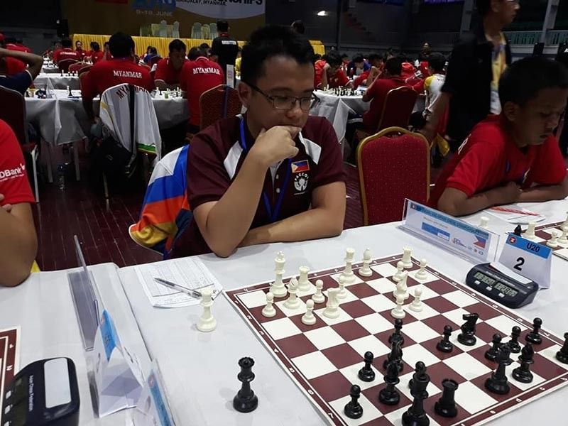 BOARD 2. International master (IM) John Marvin Miciano of Davao City competes on board 2 of the 20th Asean  Age-Group Chess Championships in Mandalay City, Myanmar recently. (James Infiesto Facebook)