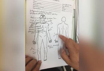 MEDICO-LEGAL INVESTIGATION: Ang resulta sa medico-legal investigation sa National Bureau of Investigation (NBI) 7 sa lawas sa 9-anyos nga tinun-an sa lungsod sa Badian. (Arnold Bustamante)