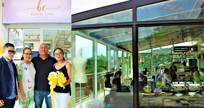 BAGUIO. A ceremonial opening at the Bridal Café Philippines overlooking a breathtaking view was held last June 15 and was witnessed by new member suppliers and clients, family and friends. (Photo by Osharé)
