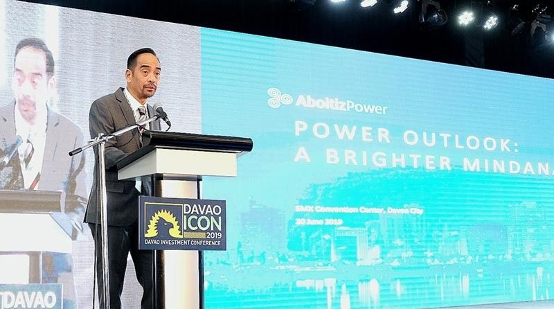 A BRIGHTER MINDANAO. AboitizPower Chief Operating Officer Emmanuel V. Rubio talks about Mindanao power outlook during the 5th Davao Investment Conference on June 20, 2019 in Davao City. (Contributed photo)