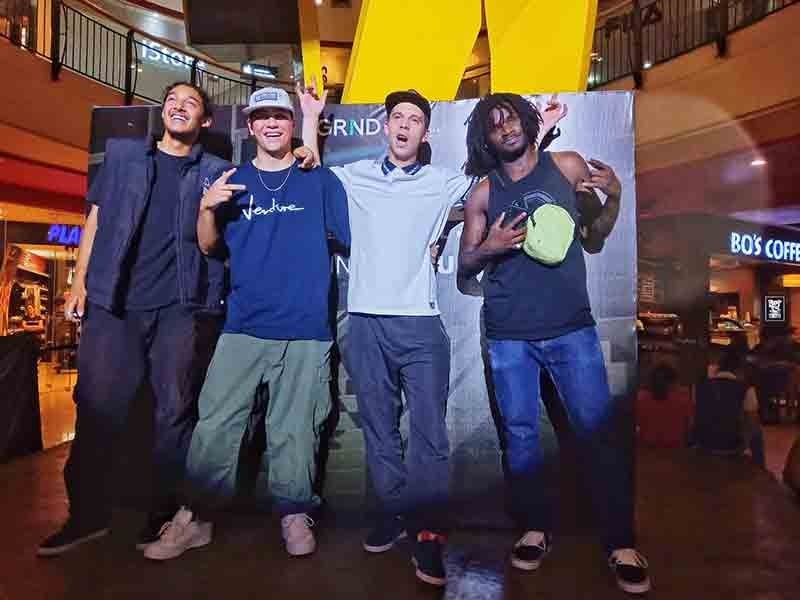 GROWTH. International skaters (from left) Alexis Ramirez, Shaun Paul, Alex Lawton and Cyril Jackson say the local scene is getting bigger every year but still has more room for growth. (SunStar File Photo/ Ritchiel S. Chavez)