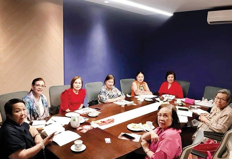 Steering Committee meeting for the 2020 Area Meeting to be hosted by Zonta Clubs Cebu 1 and 2: Elena Young, Marilou Canizares, Flor Miel, Marietta Malinao, Tess Chan, Area 3 director Stella Bernabe, Anita Sanchez and MCE.