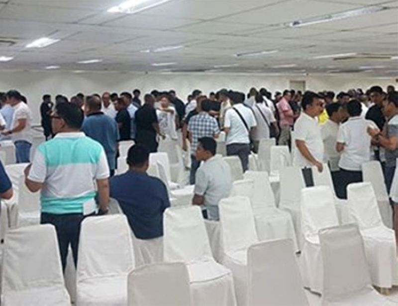 CEBU. Members of the Cebu clergy during the announcement of their new assignments last June 14, 2019 at the San Pedro Calungsod chapel. (Photo from @CebuArchdiocese Facebook page)
