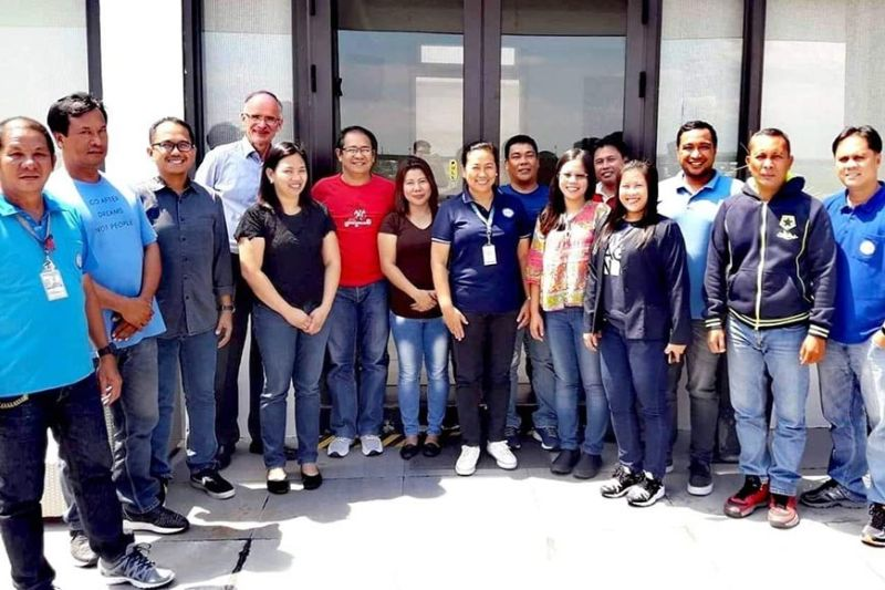 BACOLOD. Resource person Dr. Jurgen Wummel (fourth from left) of Sachssen Wasser with the participants from Bacolod City Water District and team from Association of Negros Producers during the four-day training on customer relations at Seda Capitol Central in Bacolod City until Friday. (Contributed Photo)