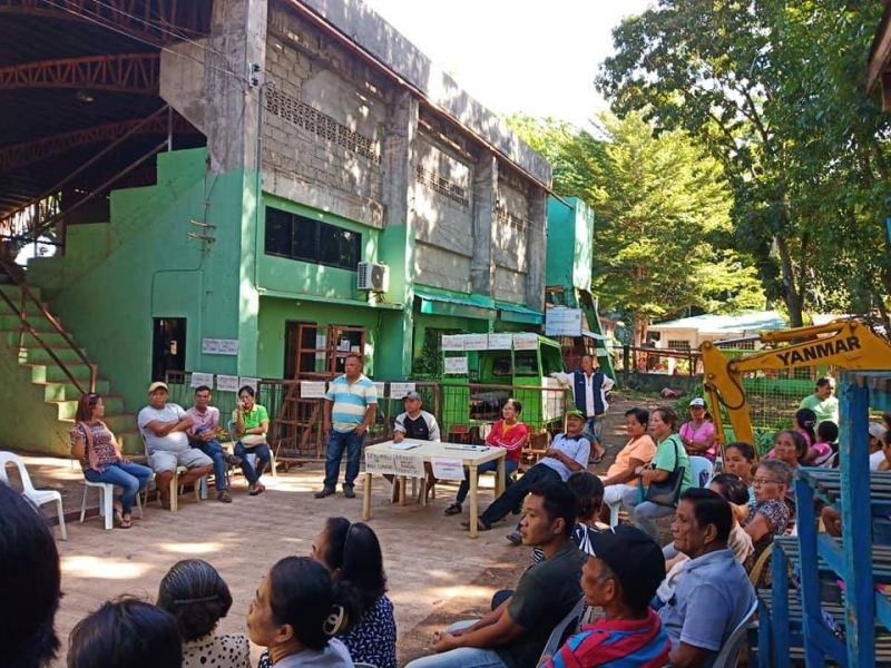 CAGAYAN DE ORO. Residents of Barangay Lumbia barricade the office of its water supplier Kyogojo as a protest of the planned water rate increase. (Photo courtesy of Barangay Lumbia Office)