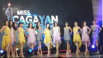 CAGAYAN DE ORO. Ang 12 ka mga kandidara sa Miss Cagayan de Oro 2019 atol sa Press and Public Presentation. (Kris C. Sialana)