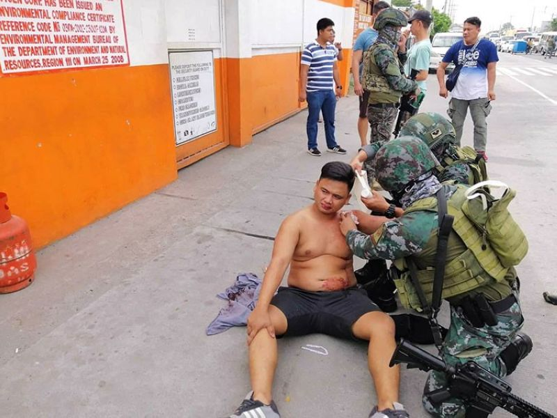 PAMPANGA. Corporal Joeton Samson during his arrest Tuesday, June 25, 2019. (Photo courtesy of PNP-IMEG)