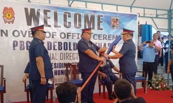 Police Colonel Roderick Mariano pormal nang mi asumir isip hepe sa Cebu Provincial Police Office. (Arnold Bustamante)