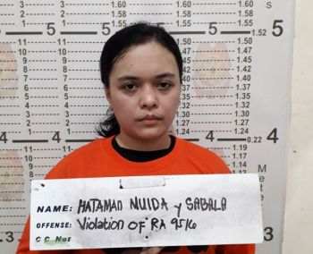 BASILAN. Technical Education and Skills Development Authority (Tesda) Basilan Director Mujda Hataman was arrested Tuesday morning, June 25, 2019, for illegal possession of explosives. (PNP photo)