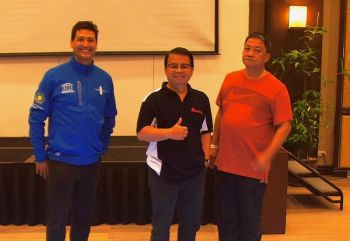 MANILA. (From left) Illac Angelo Diaz, founder and executive director of Liter of Light Foundation, Haruman Rustandi, and Rene Dela Calzada, Business Unit heads of Vouno Trade and Marketing Services Corporation. (Contributed photo)