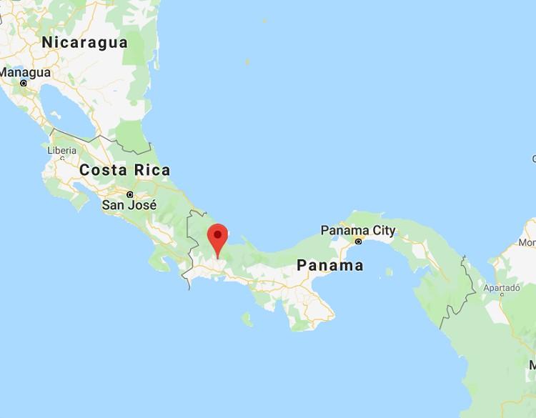 Western Panama. (Google Maps)