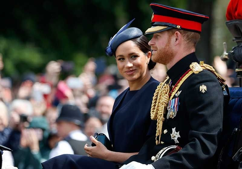 Prince Harry and his wife Meghan, the Duke and Duchess of Sussex. (AP File)