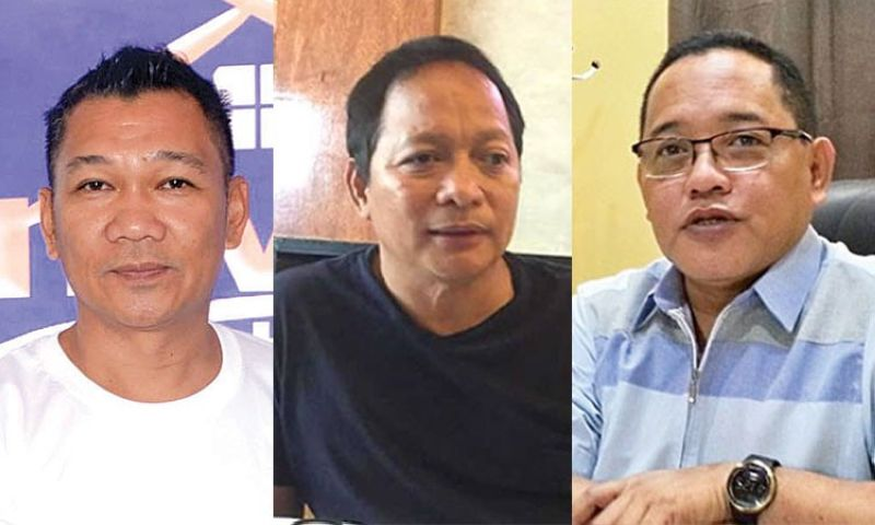 CEBU. (From left) Outgoing Councilors Jerry Guardo and Joel Garganera, and Cebu City Councilor Dave Tumulak. (SunStar File)