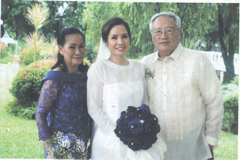 BRIDE. Aissa Stephanie (Peachy) Dela Cruz with parents, doctor Ed dela Cruz and Aissa dela Cruz.