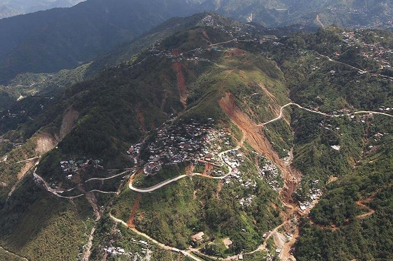 BENGUET. Itogon residents are warned this early to prevent possible massive casualties just like in 2018 where hundreds were buried during the onslaught of Typhoon Ompong. (SSB file photo)