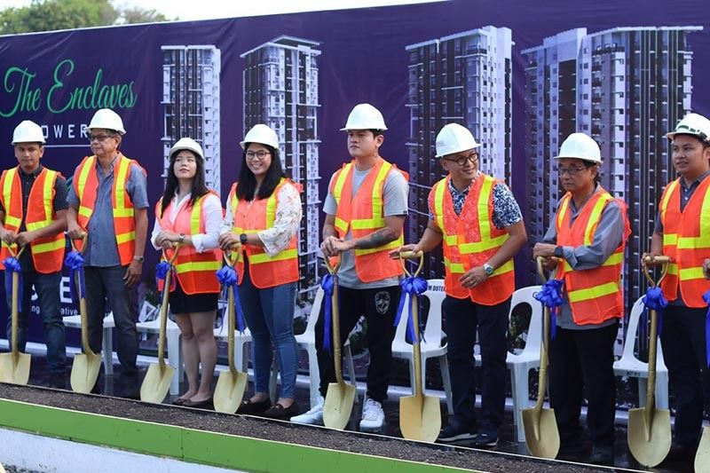 DAVAO. The groundbreaking for Matina Enclaves Tower 3 was spearheaded by Esdevco Realty Corporation executives and Davao City Vice Mayor Sebastian Duterte. (Photo by Esdevco)