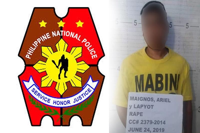 DAVAO. Rape suspect Ariel Maignos was arrested in a manhunt operation in Compostela Valley. (Photo courtesy of Police Regional Office-Davao)