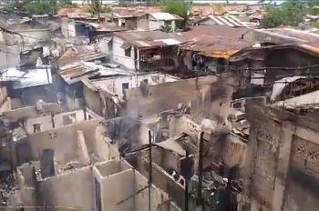 CEBU. Ang kaliwasan sa sunog nga nahitabo sa Barangay Tipolo sa Dakbayan sa Mandaue. (Screenshot gikan sa video ni  Amper Campaña)