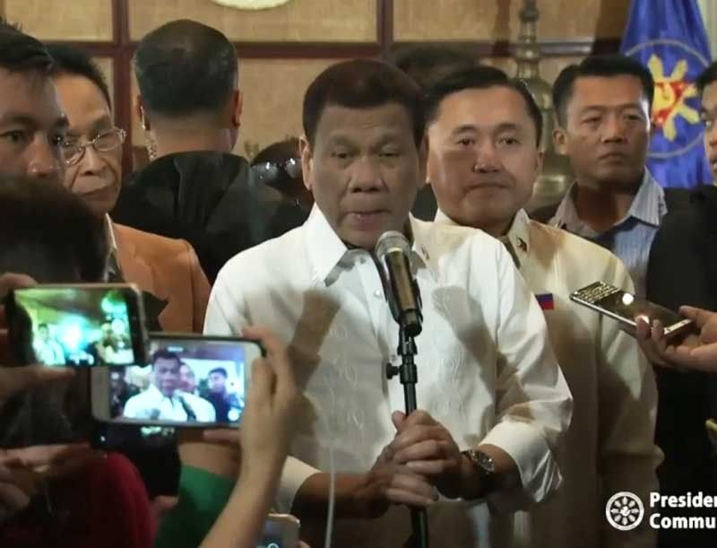 MANILA. President Rodrigo Duterte is interviewed by Palace reporters on June 27, 2019. (Photo grabbed from RTVM video)