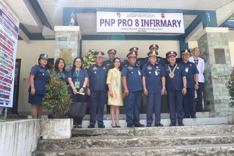 LEYTE. Top officials of the Philippine National Police in Eastern Visayas beam with pride during the opening of the Regional Health Service Infirmary inside the Camp Ruperto Kangleon in Palo, Leyte. (Contributed photo)