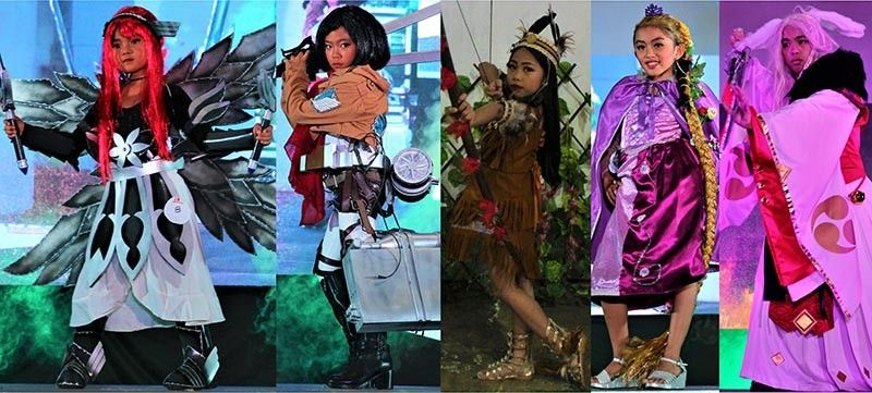 BAGUIO. The Cosplay Competition winners were: Best Female Cosplayer: Aj Gwyneth Salvador (Fairy Tale's Erza), Best Anime: Miel Angela Castullo (Attack on Titan's Mikasa), Best Kid Cosplayer: Rhianne Delos Reyes (Pocahontas), Best Western Character: Pearleen Antonette Melchor (Rapunzel), and Best Male Cosplayer: Julius Pulwen (Omnyoji's Demon Fox). (Photo by Osharé)