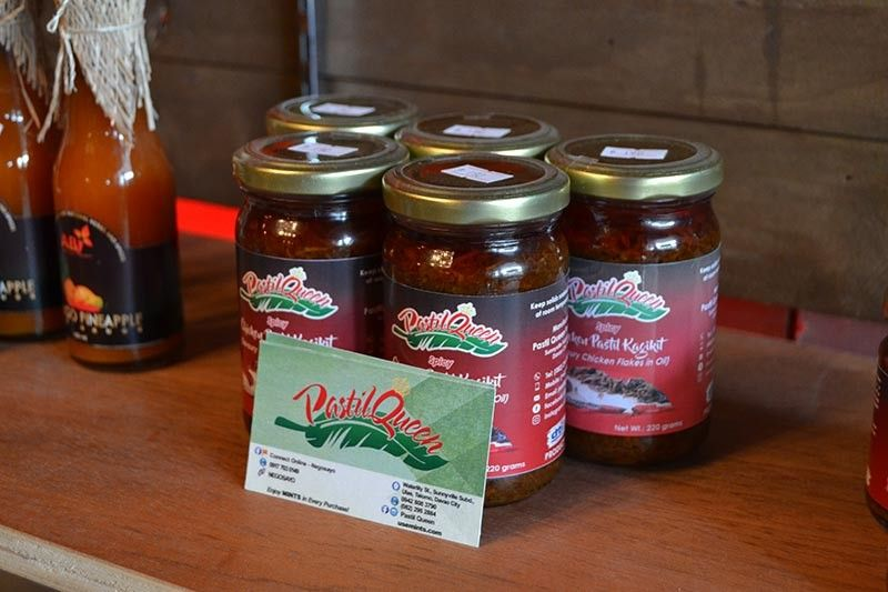 More than a dozen products made by Davao-based micro, small, and medium enterprises (MSMEs) are on display at the Dabawenyo Capsicum store at the Doña Segunda Complex. (Reuel John F. Lumawag)