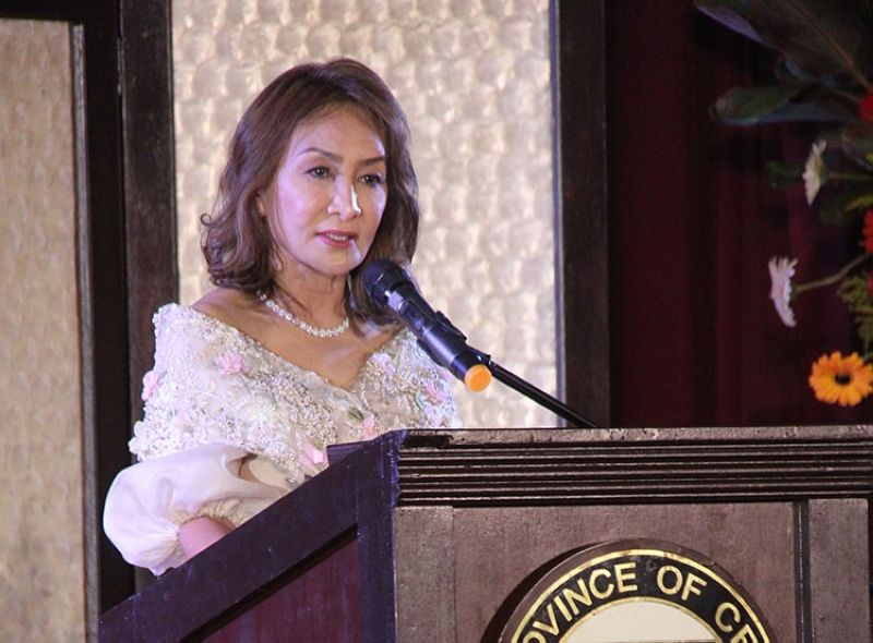 CEBU. Returning Cebu Governor Gwendolyn Garcia announces a raft of measures to solve perennial problems like traffic, garbage and water supply during her inauguration ceremony at the Social Hall of the Cebu Provincial Capitol on Sunday, June 30, 2019. (Amper Campana)