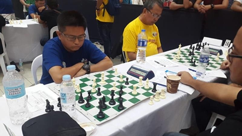 CAGAYAN DE ORO. Engr. Jun Gunayan and Fr. Vic Arellano both provide 2-0 win in the executive level for CDO-Misor team's 19-13 victory over the visiting Davao All Stars in the 5th Mindanao Goodwill Chess Match on Friday, June 28, 2019, at Limketkai Mall, Cagayan de Oro. (Lynde Salgados)