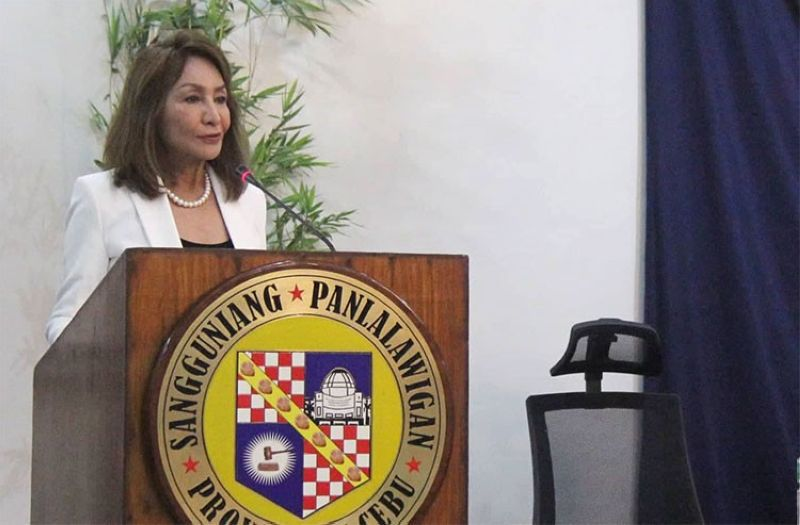 CEBU. Governor Gwen Garcia during the Provincial Board's inaugural session Monday, July 1, 2019. (Amper Campana)