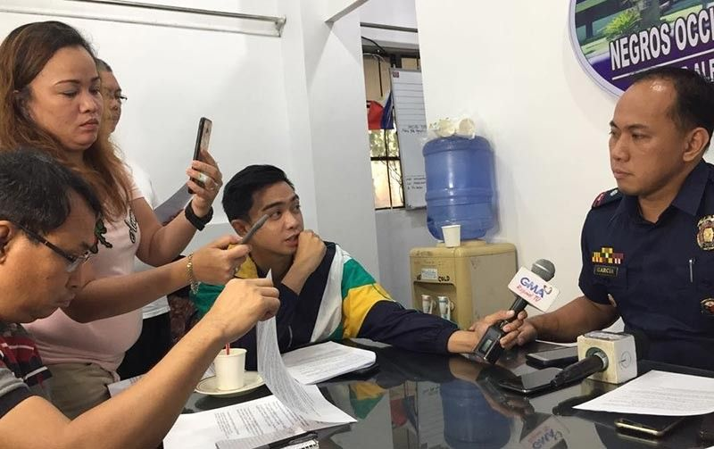NEGROS OCCIDENTAL. Police Major Edison Garcia, information officer of the Negros Occidental Police Provincial Office, during Nocppo's weekly press conference at the Media Lounge inside the Camp Alfredo Montelibano Sr. Headquarters in Bacolod City. (PIA photo)