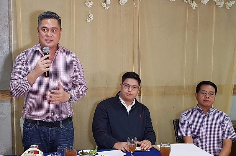 PAMPANGA. Presidential Communications Secretary Martin M. Andanar urges mediamen and the youth to fight the spread of fake news during the Youth for Truth Caravan held at Holidayland, CSFP Wednesday, July 3, 2019. Joining him are SK President BM Moshe Lacson and PIA Central Luzon Director William Beltran. (Photo by Chris Navarro)