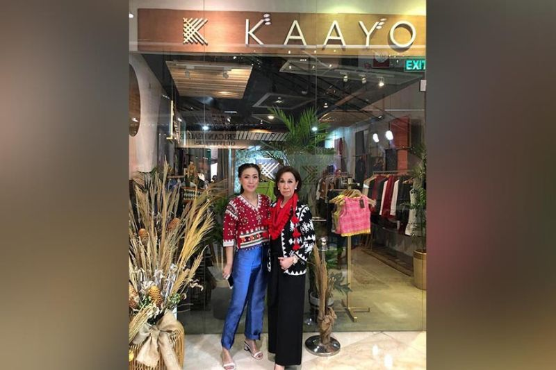 Mary Ann Montemayor and daughter Marga Nograles outside the Kaayo Modern Mindanao pop-up store in SM Aura, BGC. (Photo by Mary Ann Montemayor)