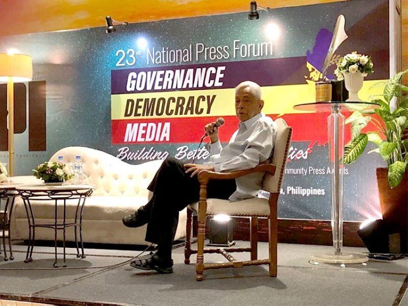 "MANILA. Former Senate President Aquilino ""Nene"" Pimentel Jr. is the chairman and founder of the Pimentel Institute for Leadership and Governance. (SunStar Photo/Cherry Ann T. Lim)"