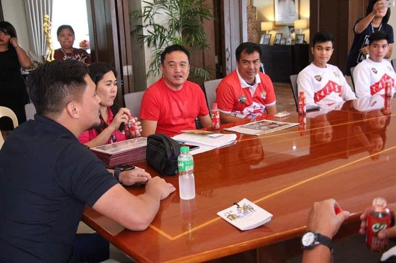 WINNING IS SECONDARY. Mayor Samsam Gullas believes an athletic scholarship -- not winning -- should be the main target in getting involved in sports, and he wants to give Talisay City residents that chance through a sports summit. (Contributed Photo)