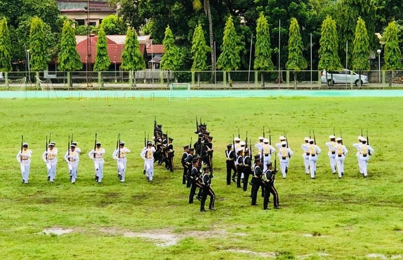 "BACOLOD. Army officers ""Silent Drill"" at the University of St. La Salle. (Contributed photo)"