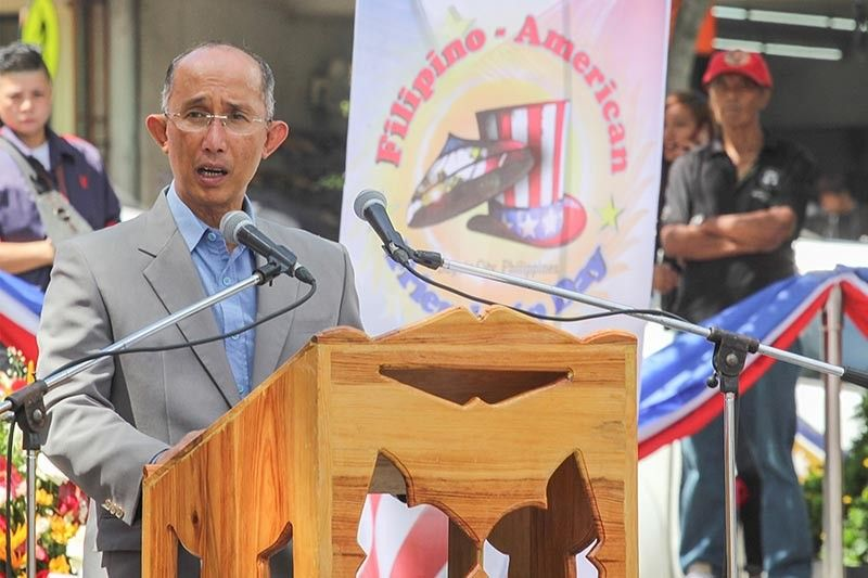BAGUIO. Baguio City Mayor Benjie Magalong acknowledges the great influence of the Americans who paved way for the development and beautification of Baguio City during the Filipino-American friendship day celebration on July 4, 2019. (Jean Nicole Cortes)