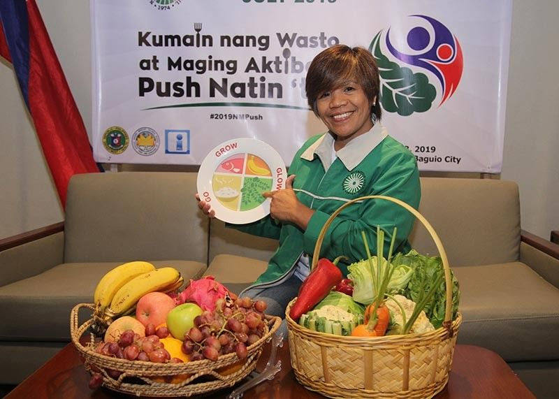 """BAGUIO. Nutrition Council Regional program coordinator Rita Papey encourage the public to eat a balanced diet. July is celebrated as nutrition month with the theme """"Kumain ng Wasto at Maging Aktibo Push Natin 'to!"""